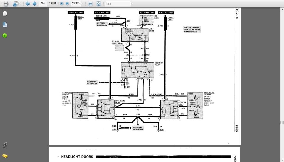 fiero headlight wiring diagram example electrical wiring diagram u2022 rh cranejapan co