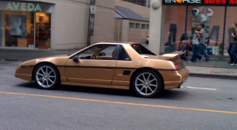 gold fiero gt 